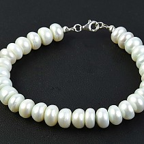 Pearls bracelet cool shade 19.5 cm