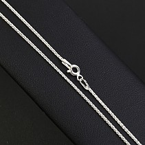 Braided cord necklace shiny silver 42 cm approx 2.6 g Ag 925/1000