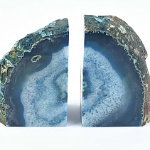 Agate blue decorative bookend from Brazil 2058 g