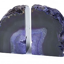 Agate purple decorative bookend from Brazil 2068 g