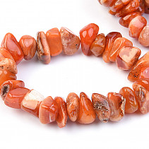 Orange agate bracelet Tumbled