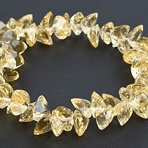 Citrine bracelet heart cut 9 mm