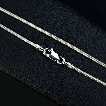 Smooth silver chain 45 cm approx 3.4 g Ag 925/1000