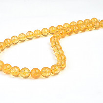 Citrine necklace beads 12 mm 55 cm