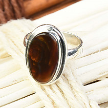 Fiery agate ring Ag 925/1000 vel.54