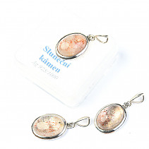 Sunstone pendant oval 14 x 10 mm Ag 925/1000