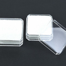 Plastic box low transparent 3.8 x 3.8cm