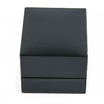 Leatherette gift box black 5.2 x 4.7 cm