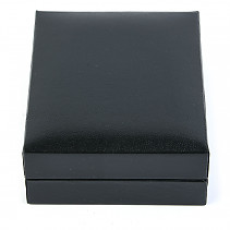 Leatherette gift box black 8.2 x 6.9 cm