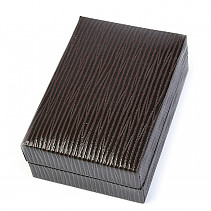 Gift box leatherette brown 6.7 x 4.6 cm