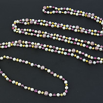 Necklace long pearls mix