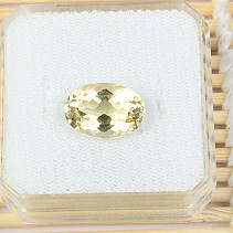 Citrine cut oval standard grind 5.9ct