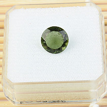 Moldavite cut 10mm 2.6ct