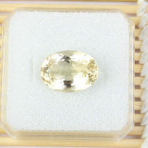 Citrine cut oval standard grind 9.28ct