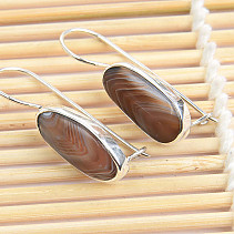 Silver earrings with agate Ag 925/1000 4.1g