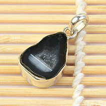 Agate with cavity pendant Ag 925/1000 3.4g