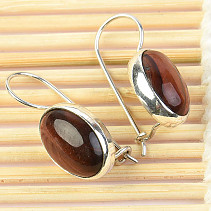 Eyebrow earrings oval Ag 925/1000 4.45g