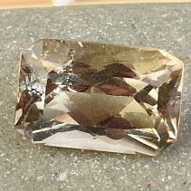 Light brown polished rectangle standard cut 22.1ct