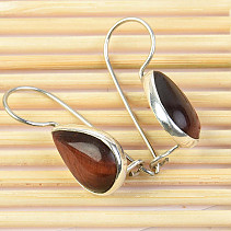 Blonde eye earrings drop Ag 925/1000 3.61g