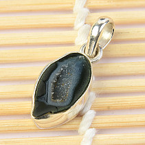 Agate pendant with cavity Ag 925/1000 2,4g