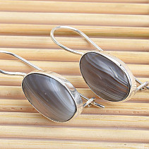 Silver earrings with agate Ag 925/1000 3.9g