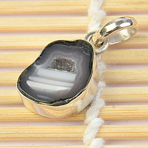Agate with cavity pendant Ag 925/1000 2.87g