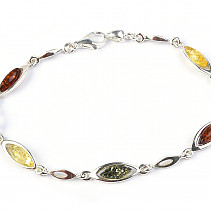 Silver bracelet with amber 19mm Ag 925/1000 TYP2891