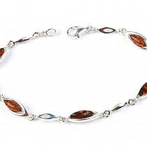 Silver bracelet with amber 19cm Ag 925/1000 TYP2880