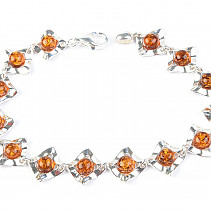Silver bracelet with amber 19cm Ag 925/1000 TYP2869