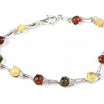 Silver bracelet with amber 18cm Ag 925/1000 TYP2900
