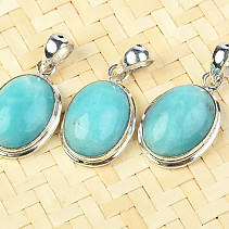 Amazonite pendant oval silver Ag 925/1000