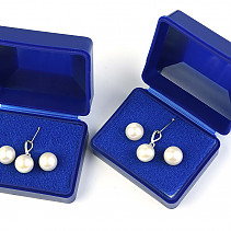 Pearl Set of Earrings and Ag 925/1000 Pendant