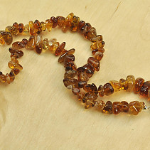 Citrine dark trombled necklace 45cm 58g