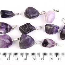 Amethyst pendant Ag bail package 10pcs 38.14g