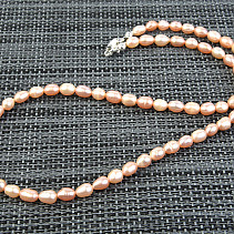Pearls 5mm apricot necklace 48cm