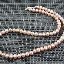 Pearls 7mm Pink Necklace 48cm