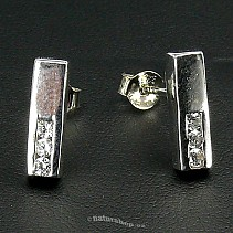 Ag zircon earrings white - typ042