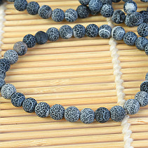 Agate blue crash bracelet 6mm balls