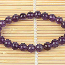 Amethyst and amethyst bracelet 8.5mm