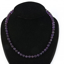 Amethyst ball necklace 8mm 50cm