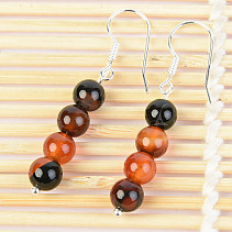 Agate earrings 6.5mm ball