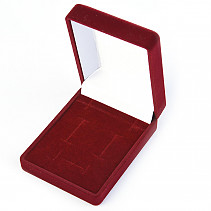 Gift velvet box rectangle board 7.5 x 6cm