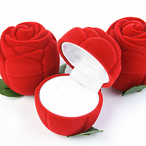Velvet gift box red rose