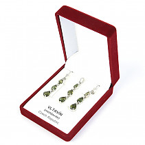 Set of jewelry with moldavite Ag 925/1000 + Rh