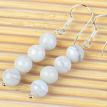 Chalcedon Earrings Ball 6mm Ag Hooks