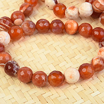 Agate fiery bracelet cut 10mm balls