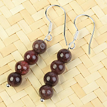 Garnet Bracelet Earrings 6mm Ag Hooks