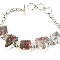 Crystal with Inclusions Silver Gray Ag 925/1000 28.6g