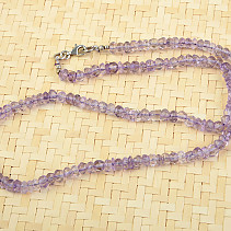 Amethyst light necklace cut 46cm
