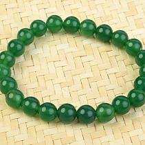 Agate green bracelet 8mm balls